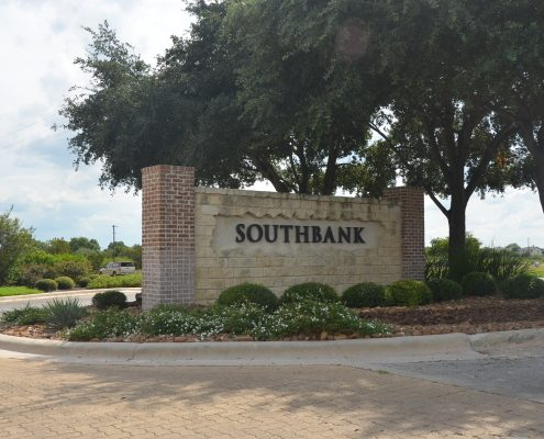 Southbank Subdivision Entrance - New Braunfels Texas