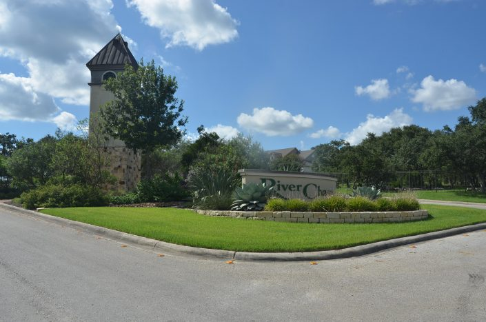 River Chase Subdivision - New Braunfels Texas - Entrance
